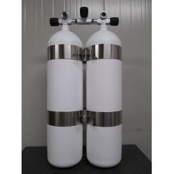 Bibombola 12+12 Litri con rubinetto Manifold Scubatec
