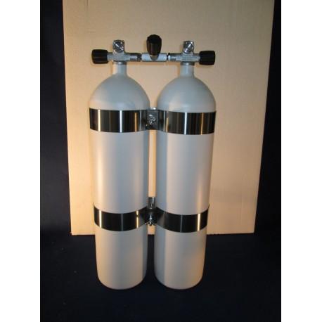 Bibombola 12+12 Litri con rubinetto Manifold Scubatec Dir Style