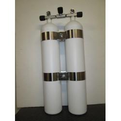 Bibombola 8,5+8,5 Litri con rubinetto Manifold Scubatec Dir Style e con fasce Wide